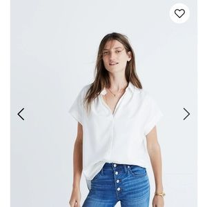 Madewell central shirt white size Large